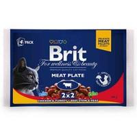 Brit Premium Pouch Kedi Maması Etli Çeşitler 4X100 Gr