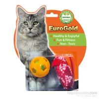 Eurogold Zilli Top & Pullu Fare 2'Li Kedi Oyuncağı