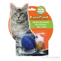 Eurogold Mat Fare & Parlak Top 2'Li Kedi Oyuncağı