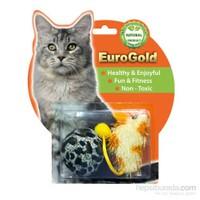 Eurogold Tüylü Top & Pastel Lif Fare 2'Li Kedi Oyuncağı