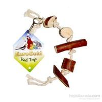 Eurogold Doğal Ağaç Dilimli İpli Kuş Oyuncağı 35-40 Cm