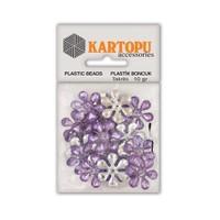 Kartopu Lila Çiçek Süslü Taş - Et5