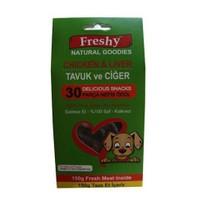 Freshy 30 Parça Tavuk Ve Ciğerli Doğal Köpek Ödülü 150 Gr