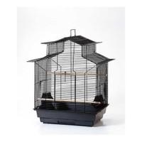 Qh Pet Cage Kafes Papağan Çin Çatılı Beyaz 47X36X62 (4)