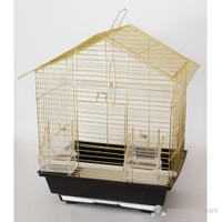 Üçgen Çatılı Pirinç Kuş Kafesi