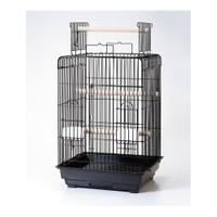 Qh Pet Papağan Kafesi Açılır Çatılı Pirinç 47X47x85