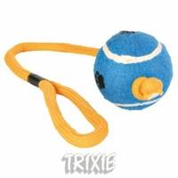 Trixie köpek oyuncağı , ipli tenis topu 6cm / 50cm