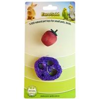 Eurogold Kuşlar Ve Kemirgenler İçin Yenilebilir Mor Meyve Dilimi Ve Ahşap Meyve