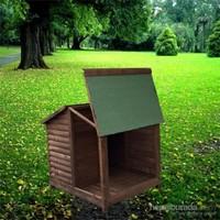 Garden Çatısı Açılır Verandalı Kulübe Standart Ahşap Rengi