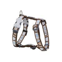 Reddingo Circadelic Desenli Kahverengi Köpek Göğüs Tasması 20 Mm