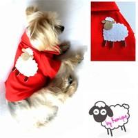 Sheep By Kemique Köpek Gömleği - Kırmızı