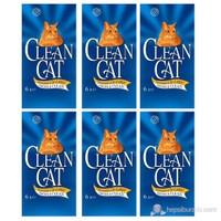 Clean Cat Sepyolit Kedi Kumu 6 Lt x 6 Paket alana Aristo Tray Açık Kedi Tuvaleti No: 2 Kahverengi hediye