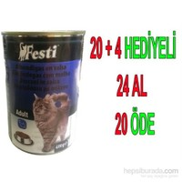 Festi Balıklı Yetişkin Kedi Konservesi 400 Gr 24'Lü