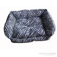Pet Style Tay Tüyü Köpek Yatağı Zebra No:1 50 X 40 X 10 Cm