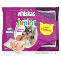 Whiskas Pouch Multipack Yavru Kedi Maması Ton Balıklı 85 Gr X 4