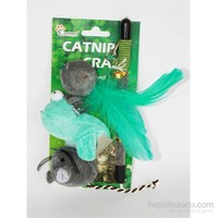 Eastland Kedi Oltası Seti Fare Kuş Tüylü Top 20Cm