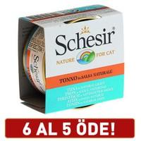 Schesir Ton Balıklı Soslu Yetişkin Kedi Konservesi 6 X 70 gr