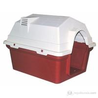 Dr.Sacchi Plastik Köpek Kulübeleri Bacalı - HC001B84 - 84X63X62,9 cm Kırmızı