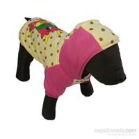 Bobo Kapşonlu Kahverengi Desenli Köpek Elbisesi 36Cm X 38Cm Small