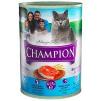 Champion Somonlu Konserve Kedi Maması 415 gr 24 Adet