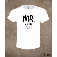 Lord T-Shirt Mr. Right Çift T-Shirt