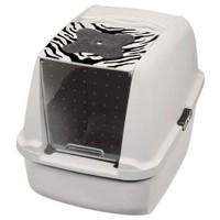 Catit Kapalı Kedi Tuvalet Kabini Kaplan Desenli (57X46,5X39)