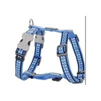Reddingo Fosforlu Kemik Desenli Mavi Köpek Göğüs Tasması 15 Mm