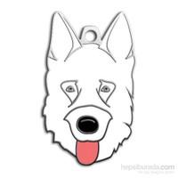 Dalis Pet Tag - Alman Kurdu Köpek Künyesi - Beyaz (İsimlik)