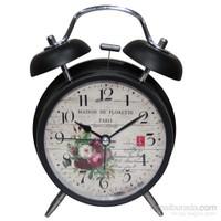 Galaxy Alarmlı Vintage Metal Masa Saati 2035-3