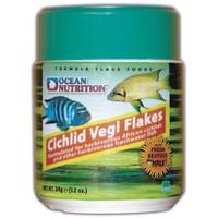Ocean Nutrition Cichlid Vegi Flake - 156 Gr. Çiklit Balıkları için Otçul Pul Yem