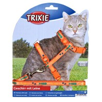 Trixie kedi göğüs tasması seti Mor 22-36cm/10mm
