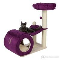 Trixie Kedi Tırmalama ve Oyun Evi Krem/Mor 90cm