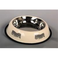 Pet Creaing 64 Oz Zebra Desenli Köpek Mama Kabı