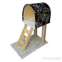 Pet Pretty Merdivenli Kedi Tırmalama Tahtası Ve Yuvası Leopar Desenli 38 X 60 X 80 Cm