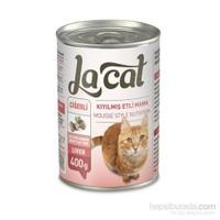 La Cat Kıyılmış Etli Ve Çiğerli Kedi Maması 400 Gr