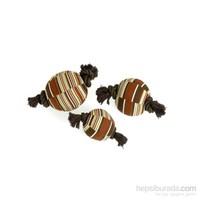 Karlie Yaslı Köpek Oyuncağı Top Iplı 15 Cm