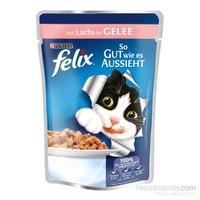 Felix Yetişkin Kediler İçin Somonlu Yaş Kedi Maması Pouch 100 Gr