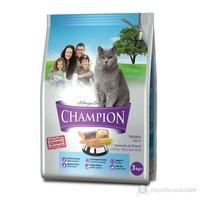 Champion Somonlu ve Pirinçli Yetişkin Kedi Maması 3 Kg