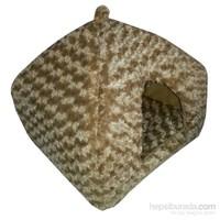 Pet Pretty Kedi Ve Küçük Irk Köpekler İçin Piramit Yuva Yatak Kahverengi 45 X 45 X 40Cm