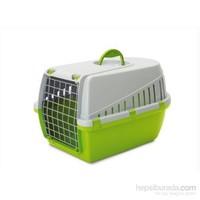 Savic Trotter 1 Kedi Köpek Taşıma Kabı Açık Gri/Limon Yeşili kk