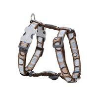 Reddingo Circadelic Desenli Kahverengi Köpek Göğüs Tasması 12 Mm