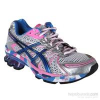 Asics Gel- Sendai Beyaz / Mavi / Altın Kadın Koşu Ayakkabısı
