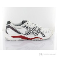 Asics E303y Gel Challenger 9 White Vharcoal Red Spor Ayakkabı