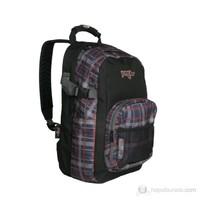 Pug Walker Sırt Çantası Laptop Bölmeli Kareli Siyah (0055-2)