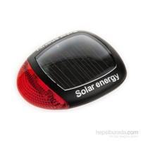 Bicycleworld Solar 3 Kademeli Led Işıklı Bisiklet Arka Stop Lambası (Güneş Enerjili Pil Gerektirmez)