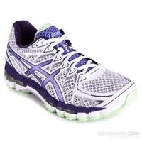 Asics Gelkayano 20 Beyaz Purple Yeşil Kadın Ayakkabı