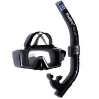 Unidive Silikon Maske/Şnorkel Set Combo 1 - Siyah