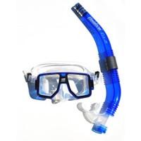 Unidive Silikon Maske/Şnorkel Set combo-2 Mavi