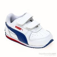Puma Fieldsprint L V Kıds White-Limoges-High Çocuk Spor Ayakkabı 21-27