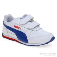Puma Fieldsprint L V Kıds White-Limoges-High Çocuk Spor Ayakkabı 28-35